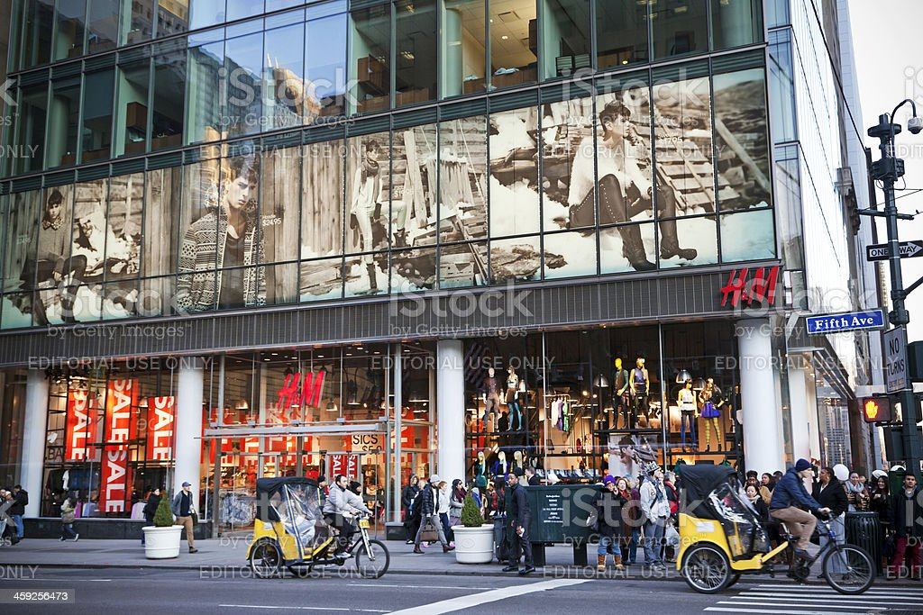 H&M Fifth Avenue NYC # 2 XXL stock photo