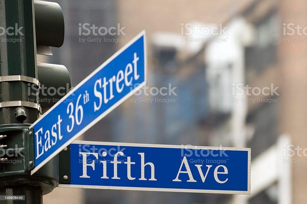 Fifth Avenue stock photo