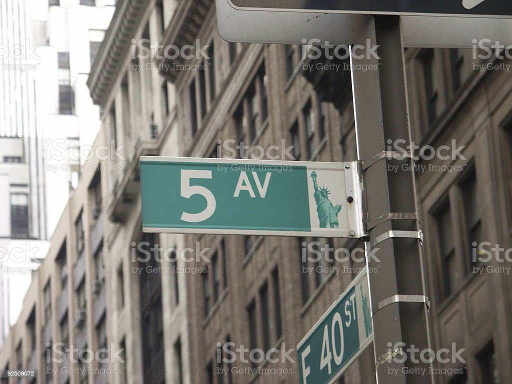 Fifth Avenue royalty-free stock photo
