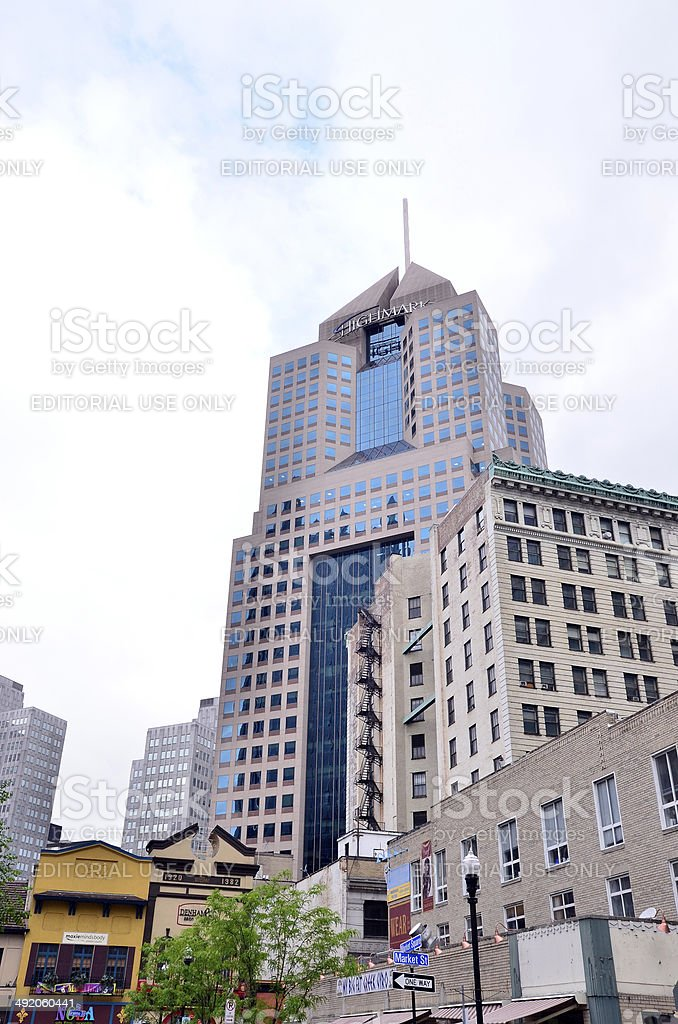 Fifth Avenue Place Pittsburgh stock photo