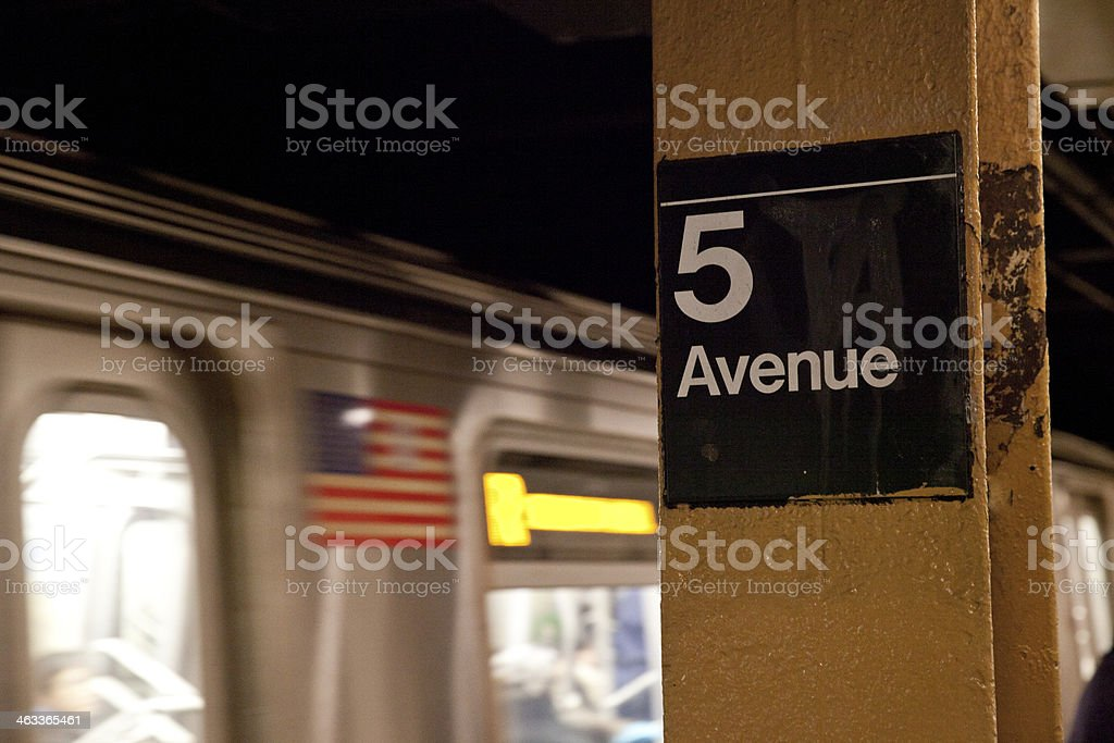 Fifth Avenue Subway Station at New York City stock photo