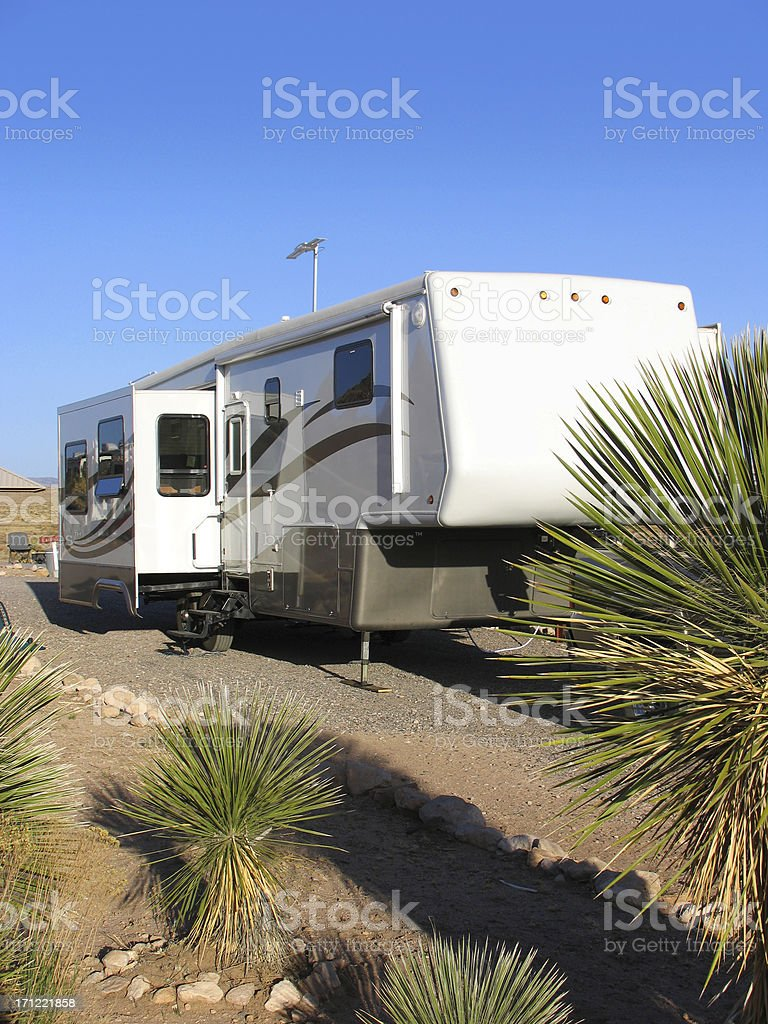 Fifth Wheel Trailer stock photo
