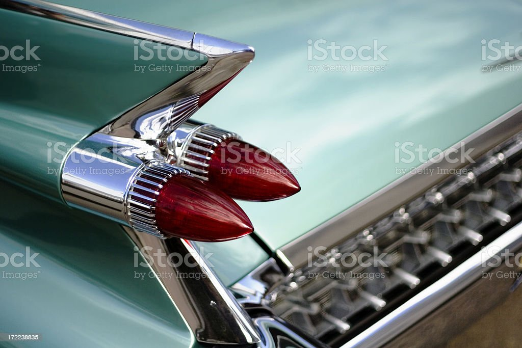 Fifties Automobile Tail Light. royalty-free stock photo