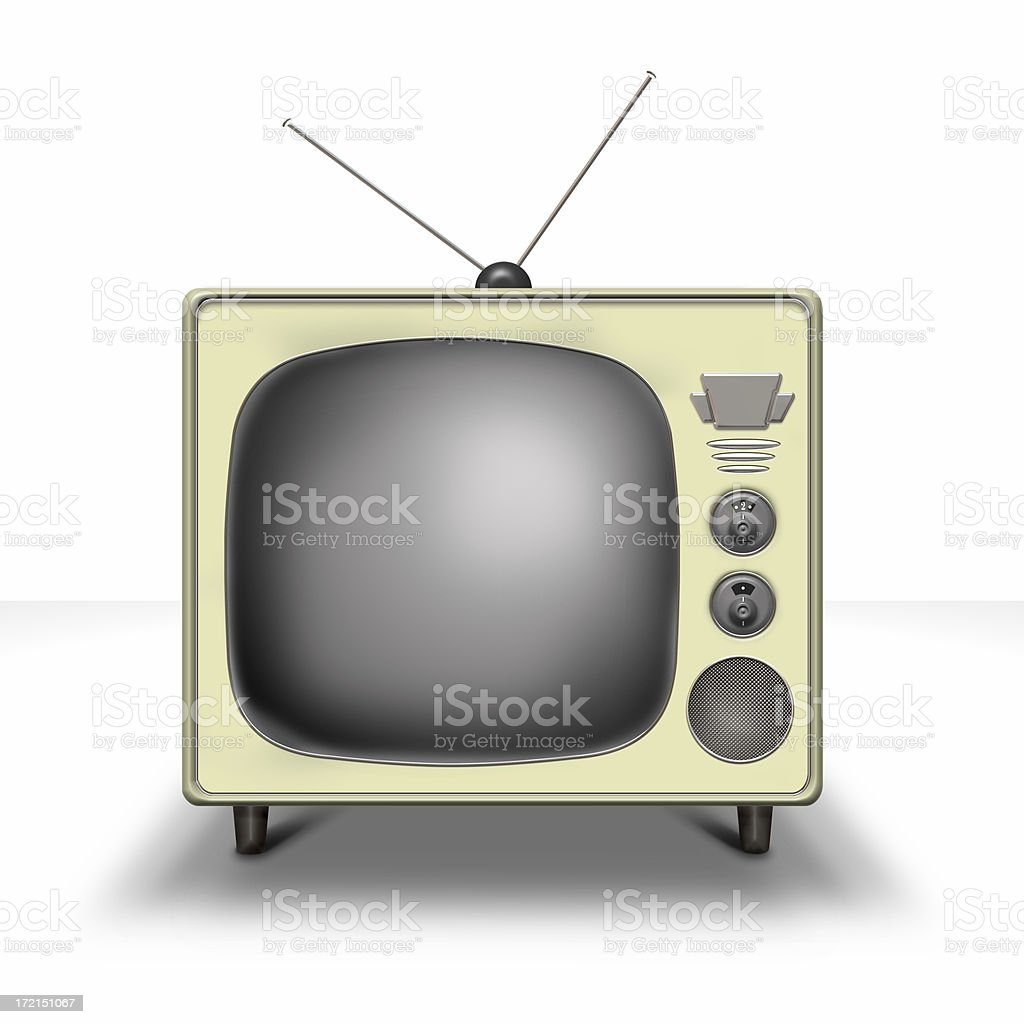 Fifties Tv royalty-free stock photo