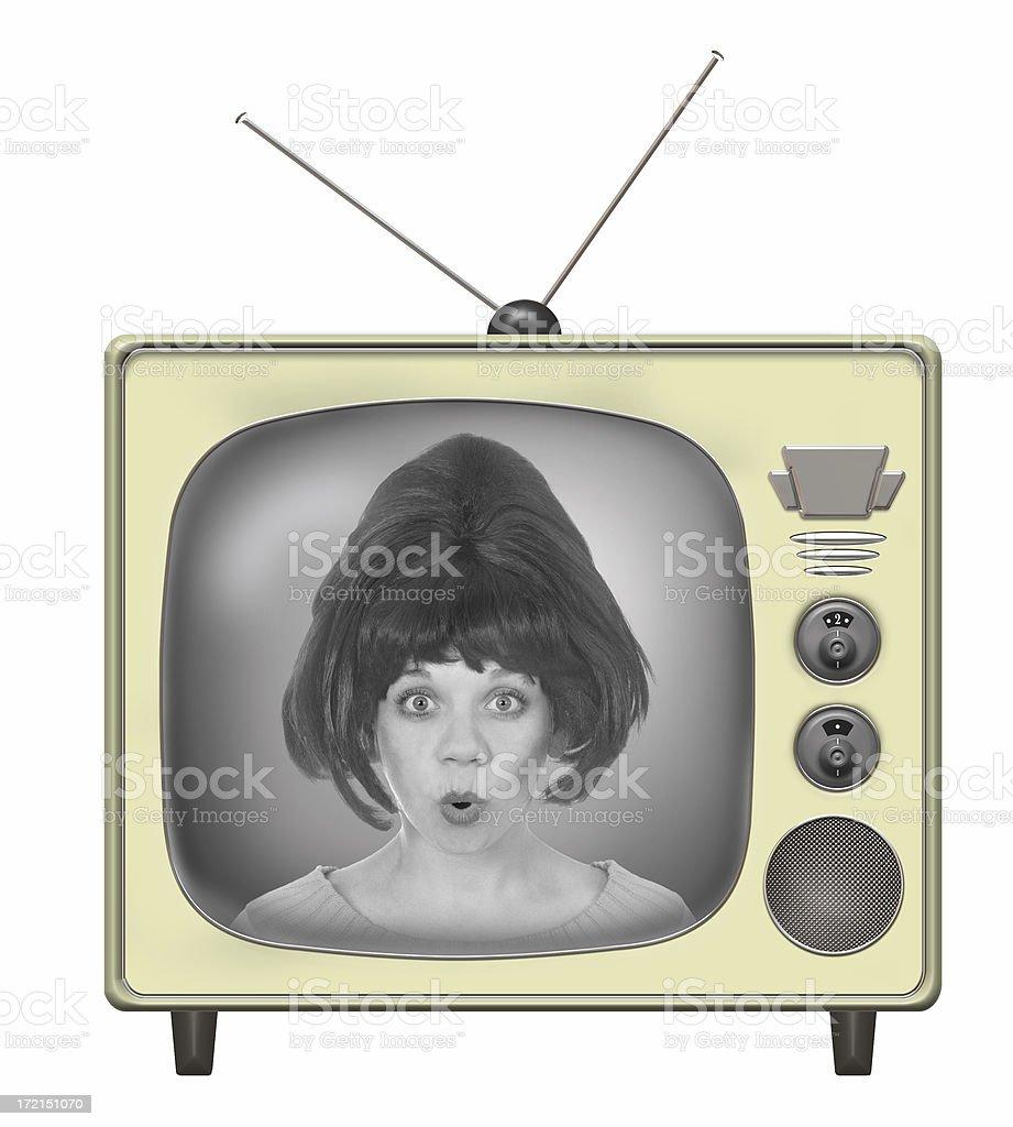 Fifties Tv stock photo
