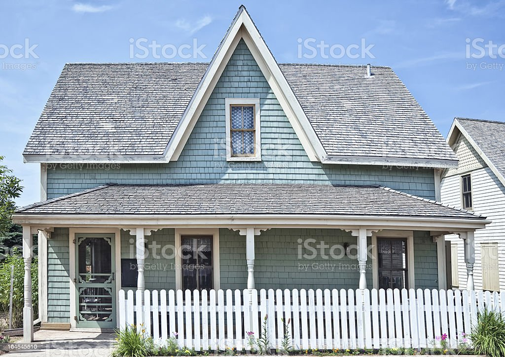 A fifties vintage home wood style stock photo