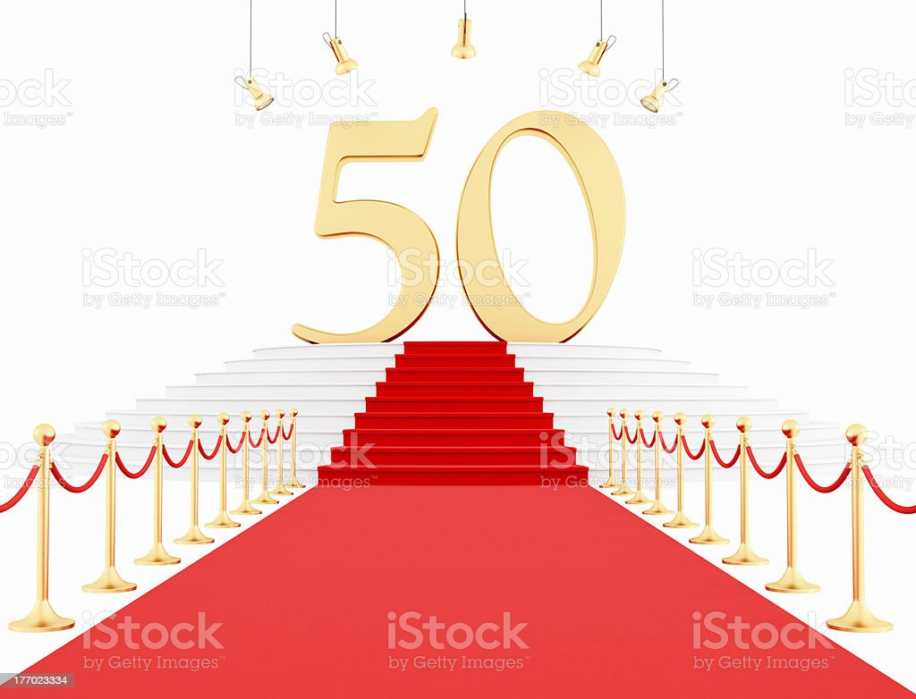 fiftieth anniversary stock photo