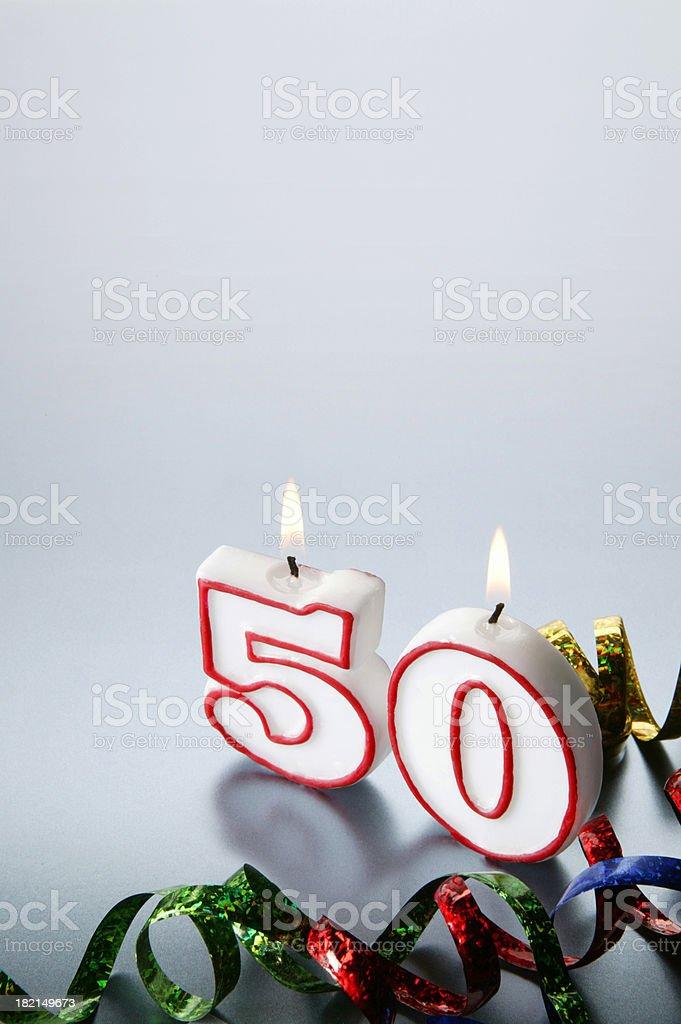 Fiftieth royalty-free stock photo