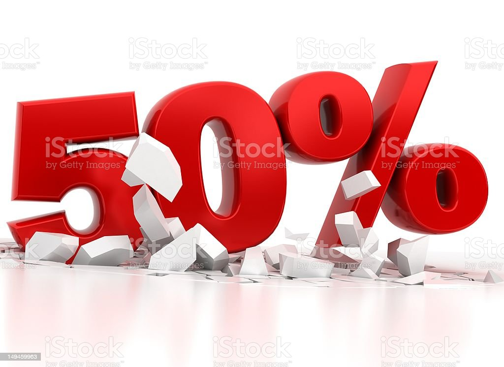 fifty 50 percent sale royalty-free stock photo