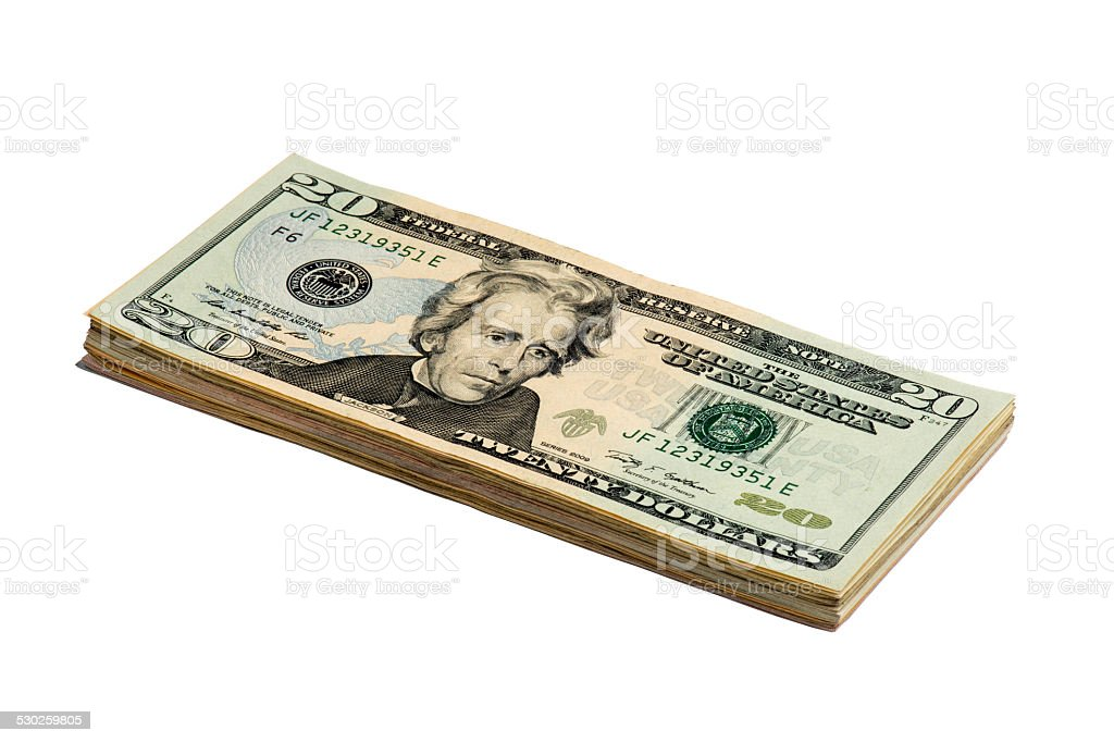 Fifty American Dollar Bill stock photo