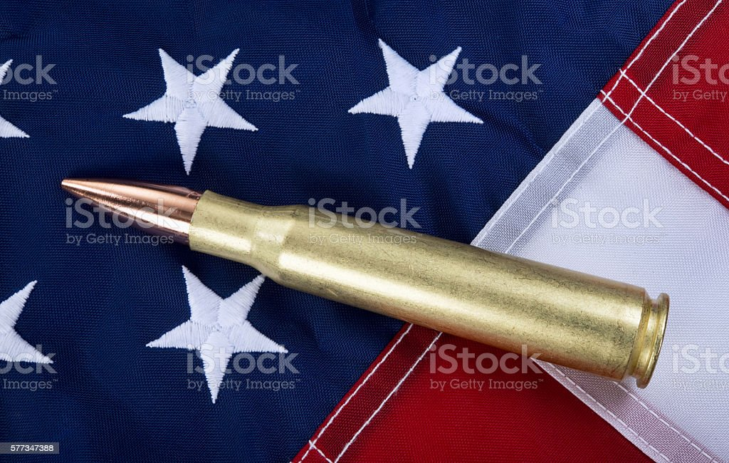 Fifty Cal Bullet. stock photo