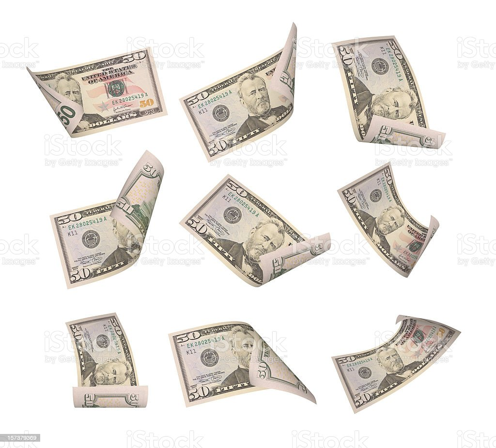 Fifty Dollar Bill royalty-free stock photo