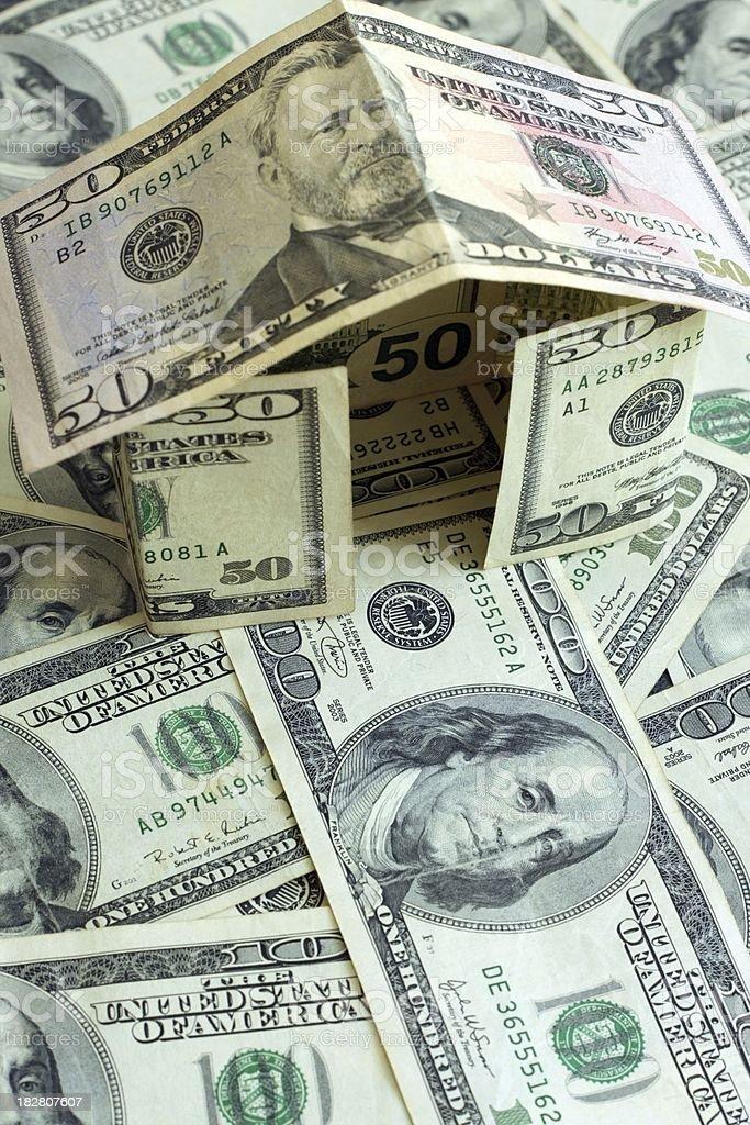 Fifty Dollar Money House royalty-free stock photo