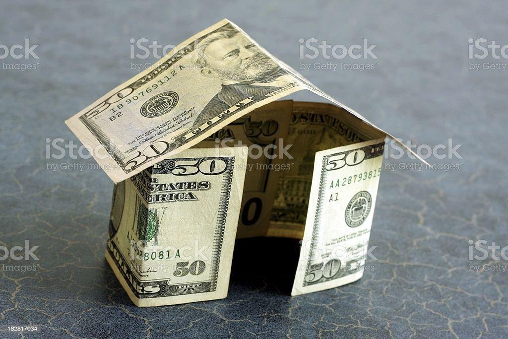 Fifty Dollar Money House stock photo