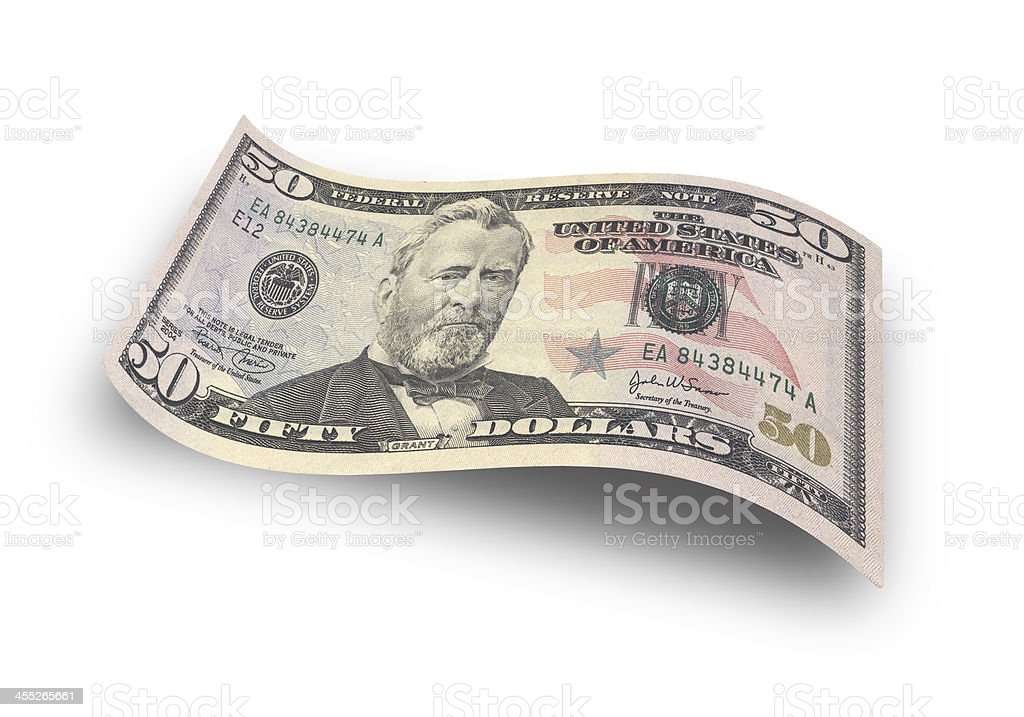 fifty dollar stock photo