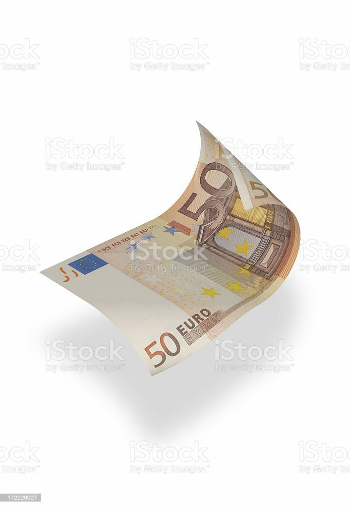 Fifty Euro Banknote (isolated) royalty-free stock photo