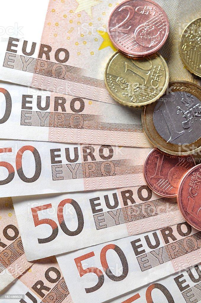 Fifty Euro Banknotes stock photo
