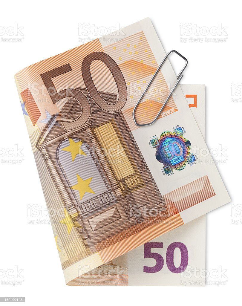 Fifty Euro banknotes royalty-free stock photo