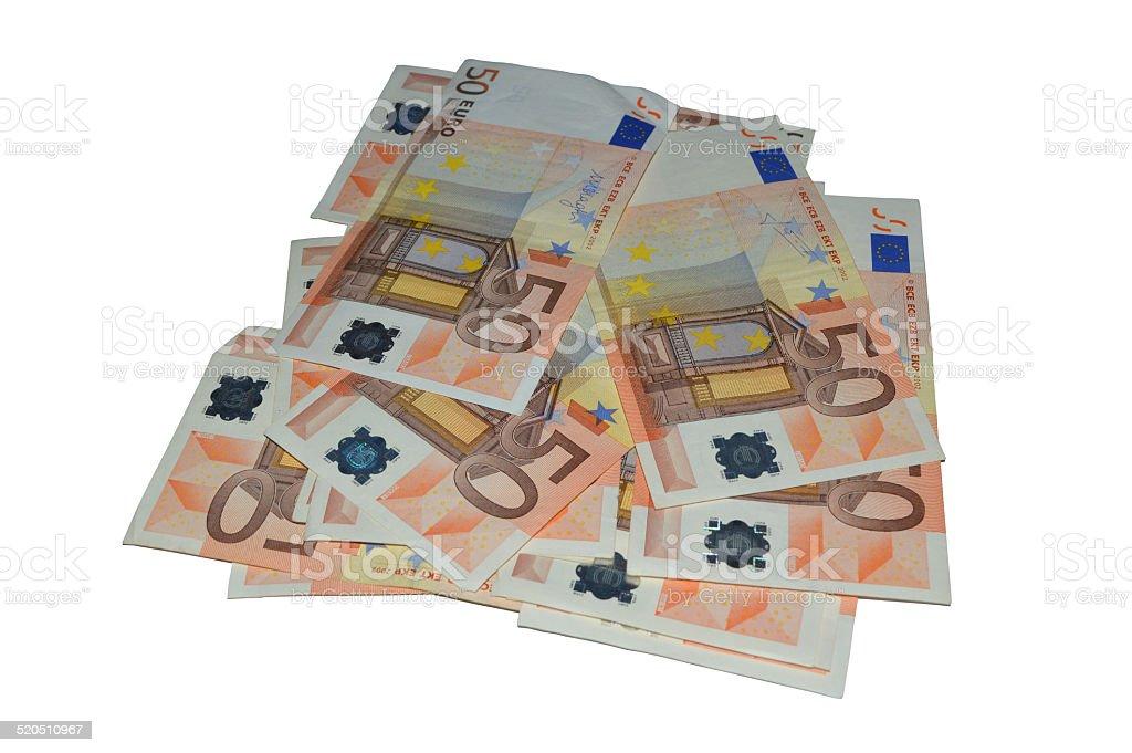 Serie moneda de cincuenta euros foto de stock libre de derechos