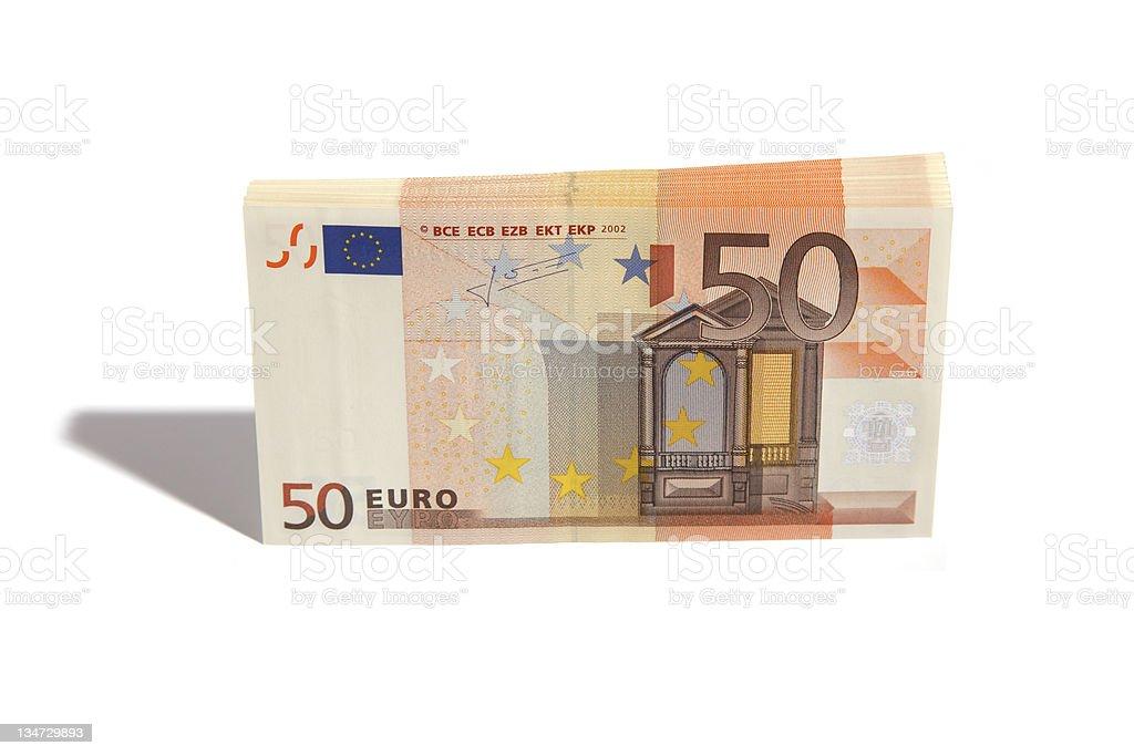 fifty euro stack stock photo