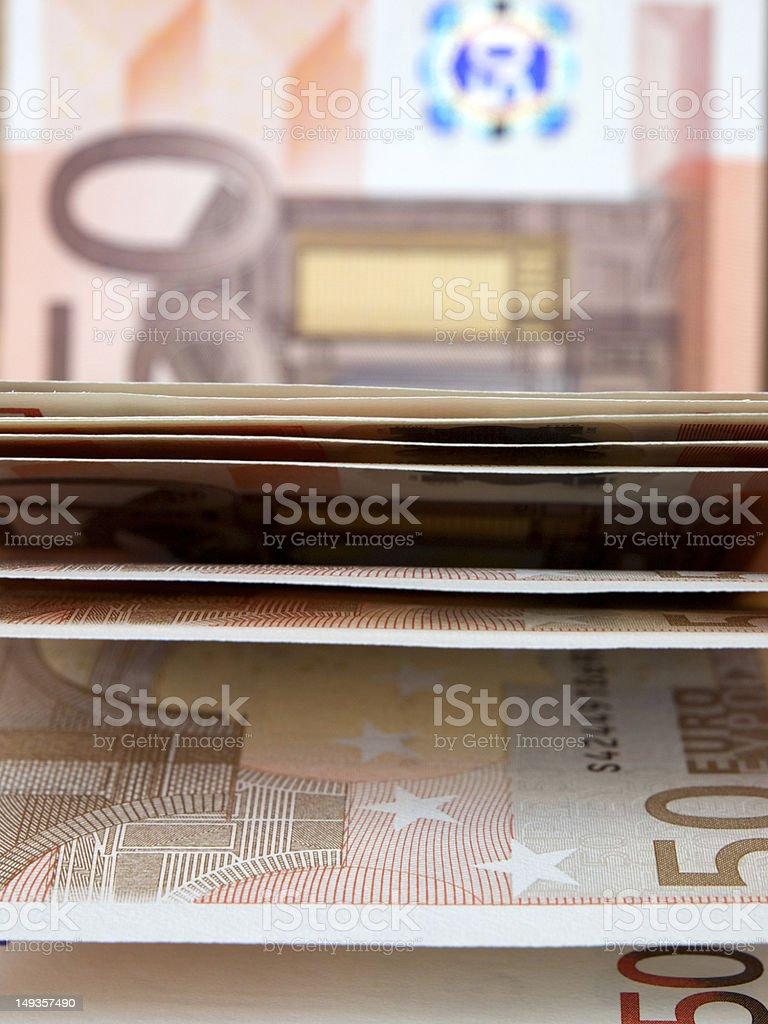 Fifty Euros banknotes royalty-free stock photo