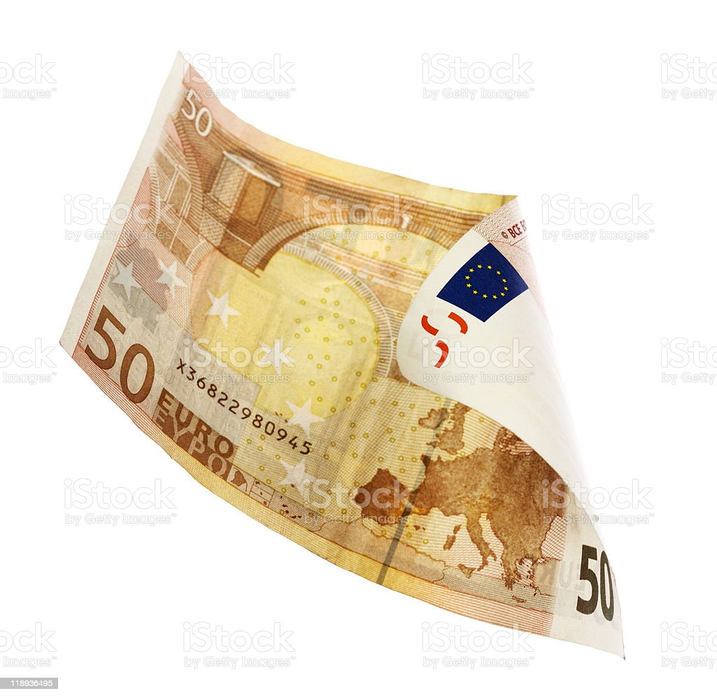 fifty euros stock photo