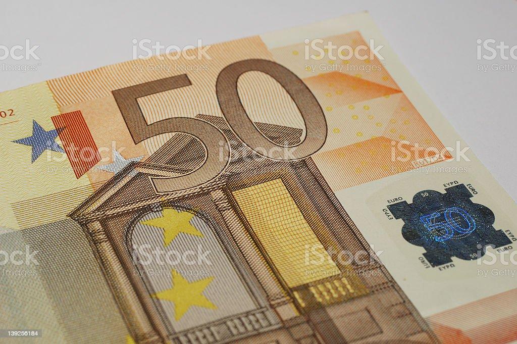 fifty euros stock photo