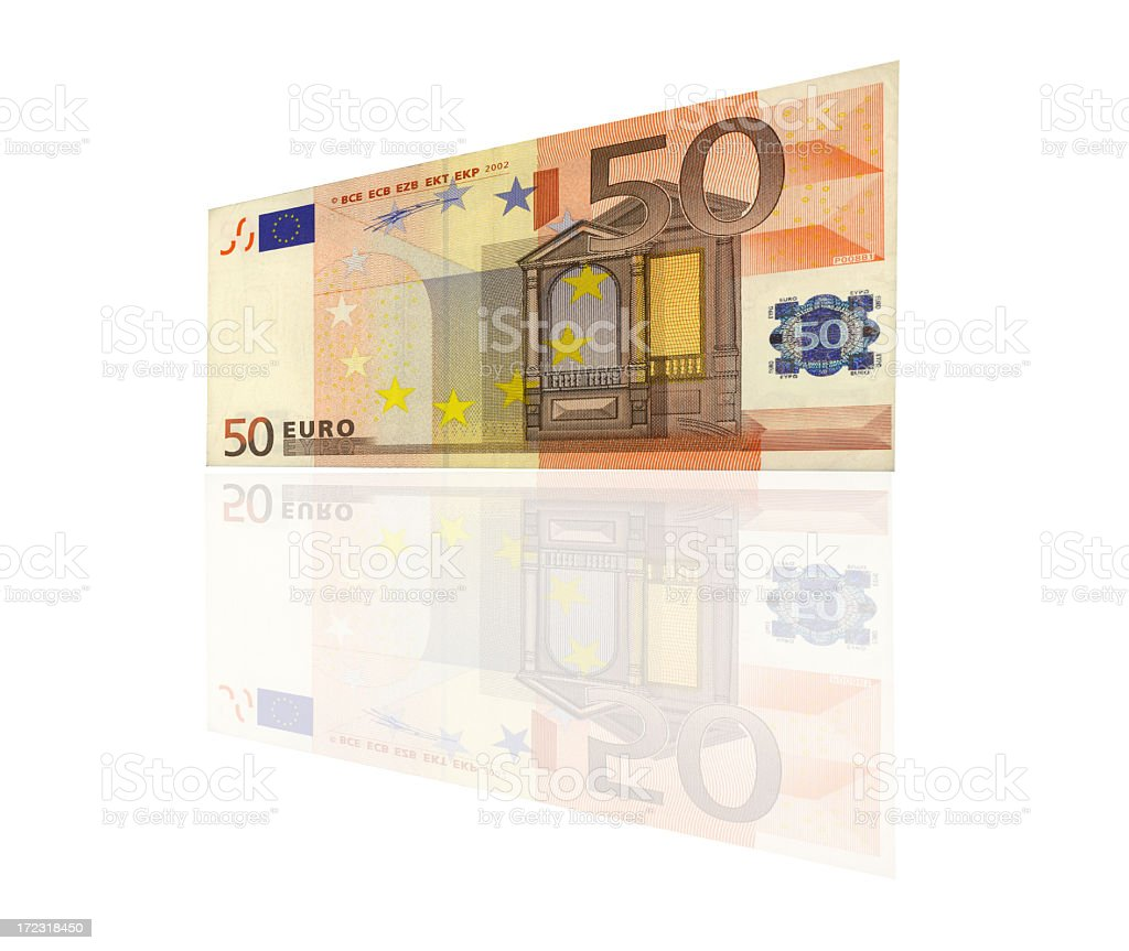 Fifty Euros royalty-free stock photo