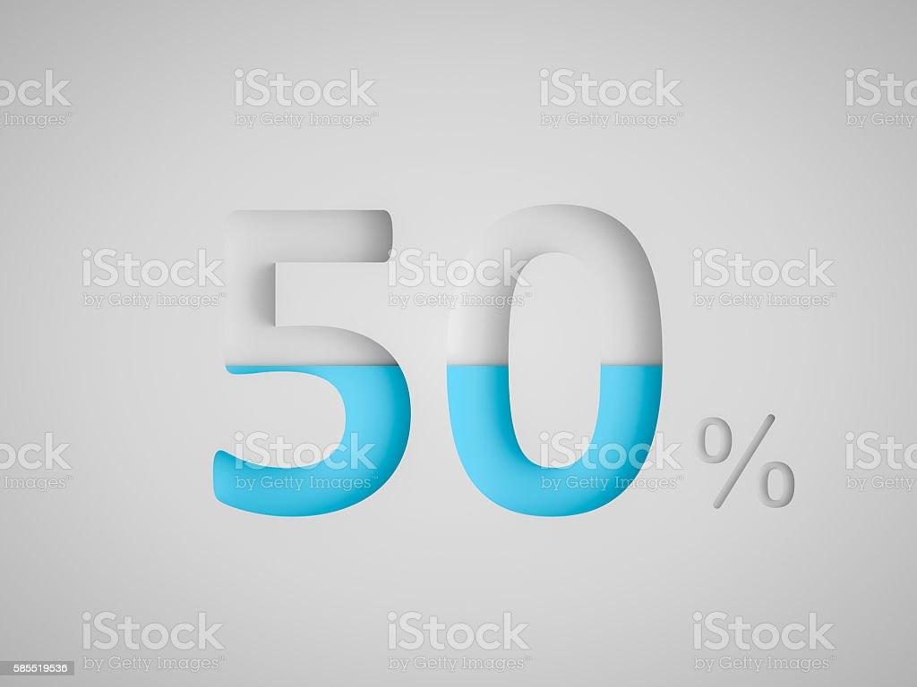 Fifty Percent Design stock photo