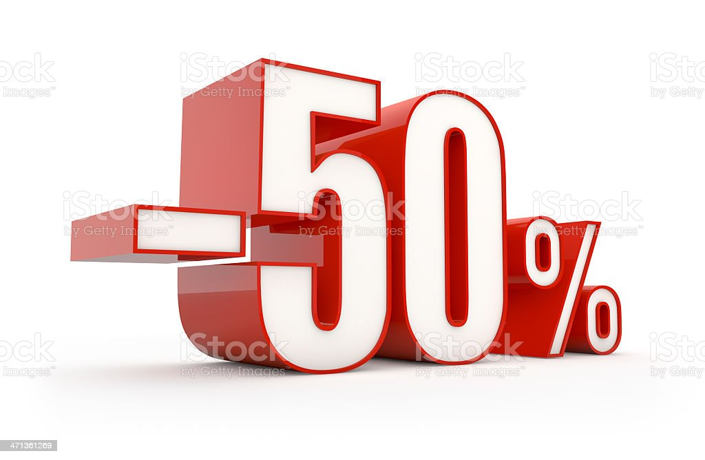fifty percent discount | sale series royalty-free stock photo