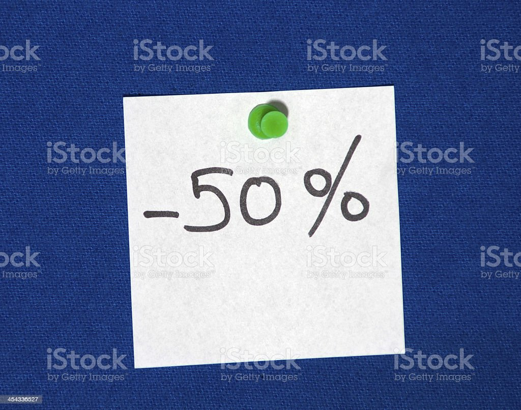 Fifty Percent Off royalty-free stock photo