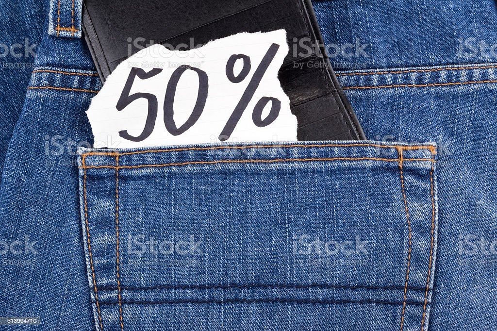 fifty percent stock photo