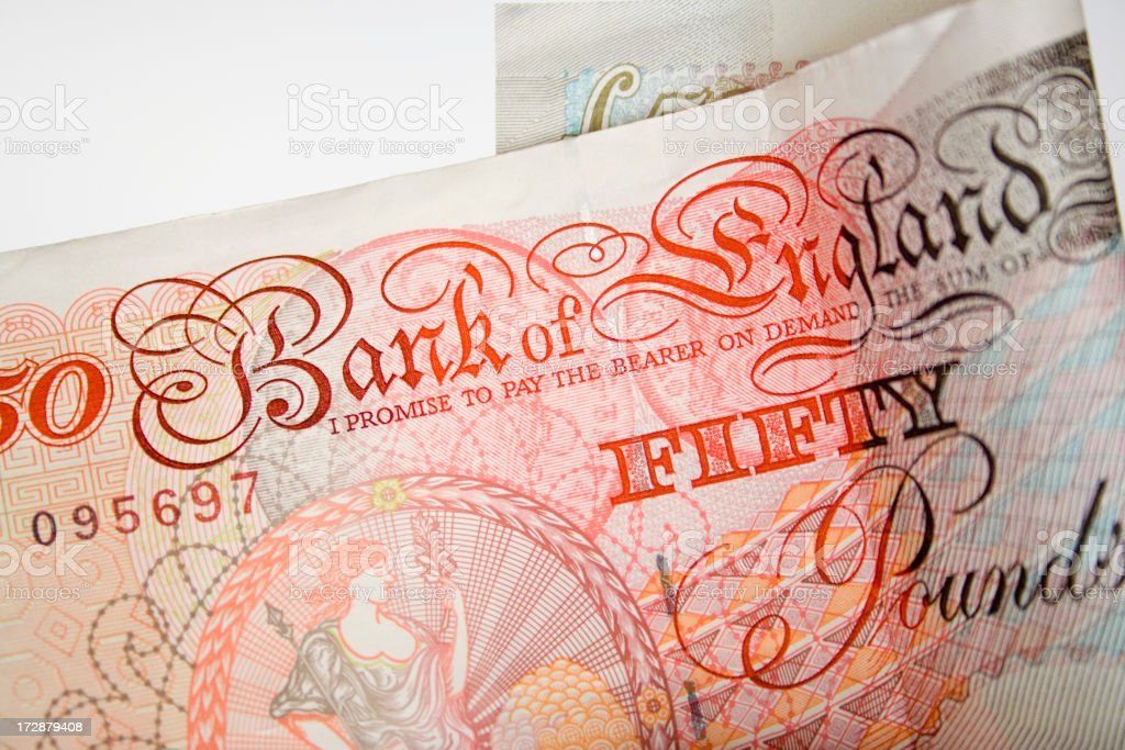 Fifty pound note royalty-free stock photo