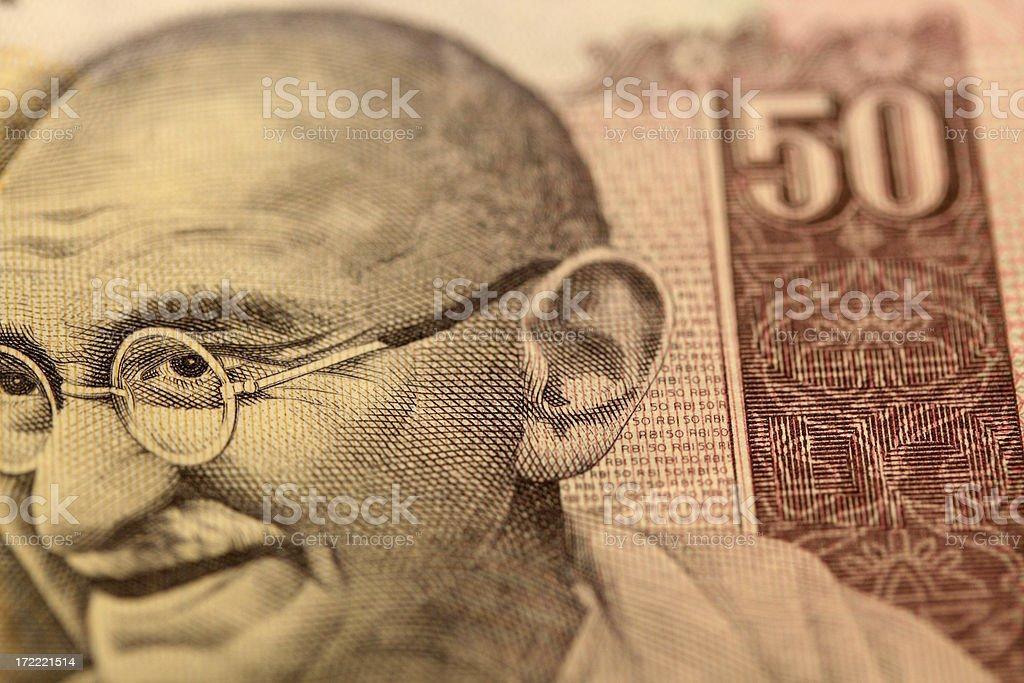 Fifty Rupee stock photo