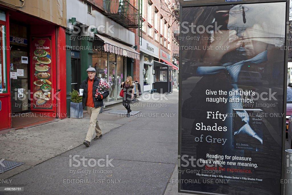 Fifty Shades of Grey stock photo