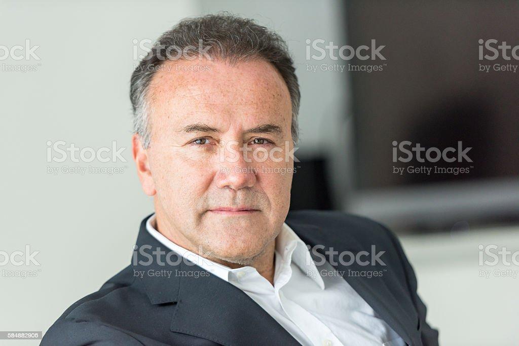 Fifty something man stock photo