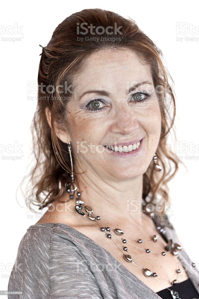 Fifty something woman royalty-free stock photo
