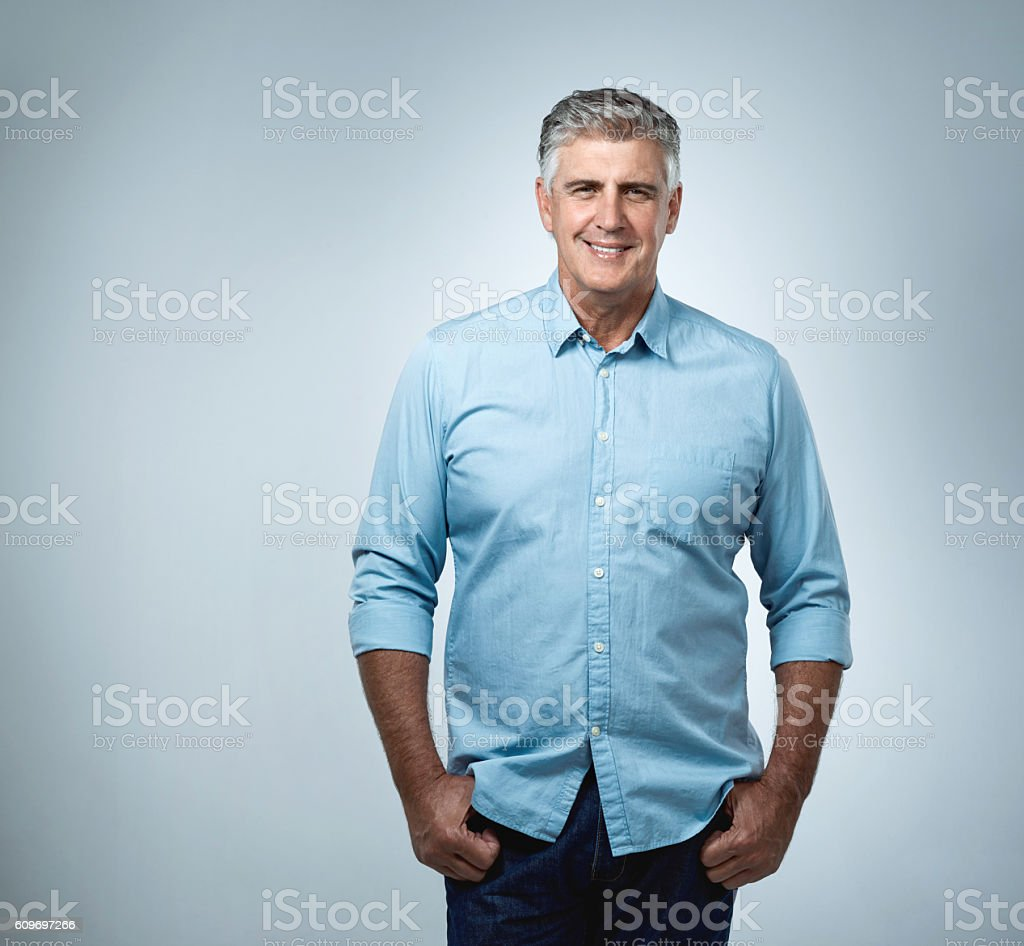 Fifty sure looks good stock photo