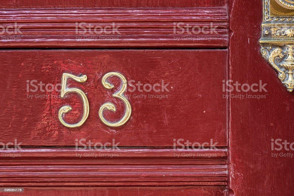 Fifty Three stock photo