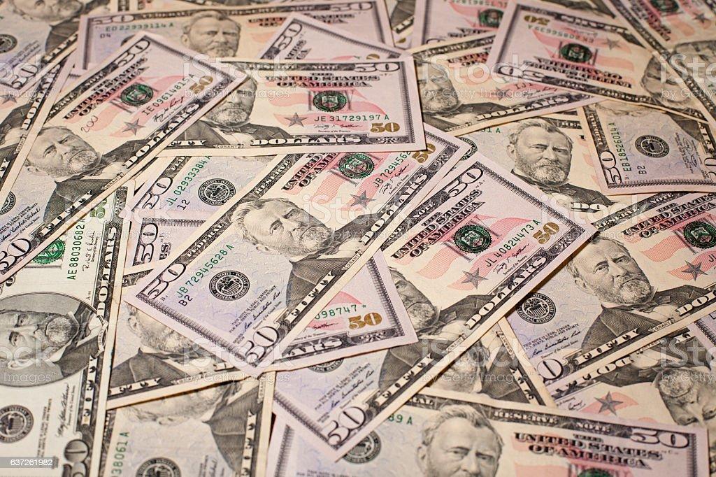 Fifty US Dollars stock photo