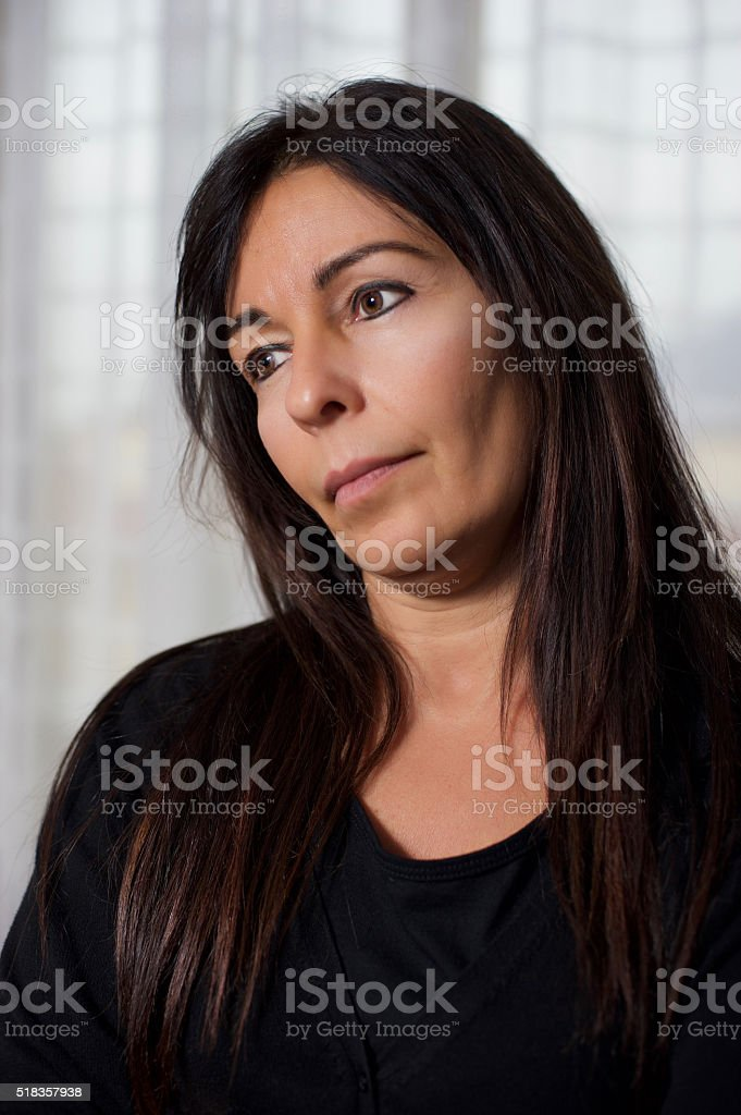 fifty year old woman stock photo