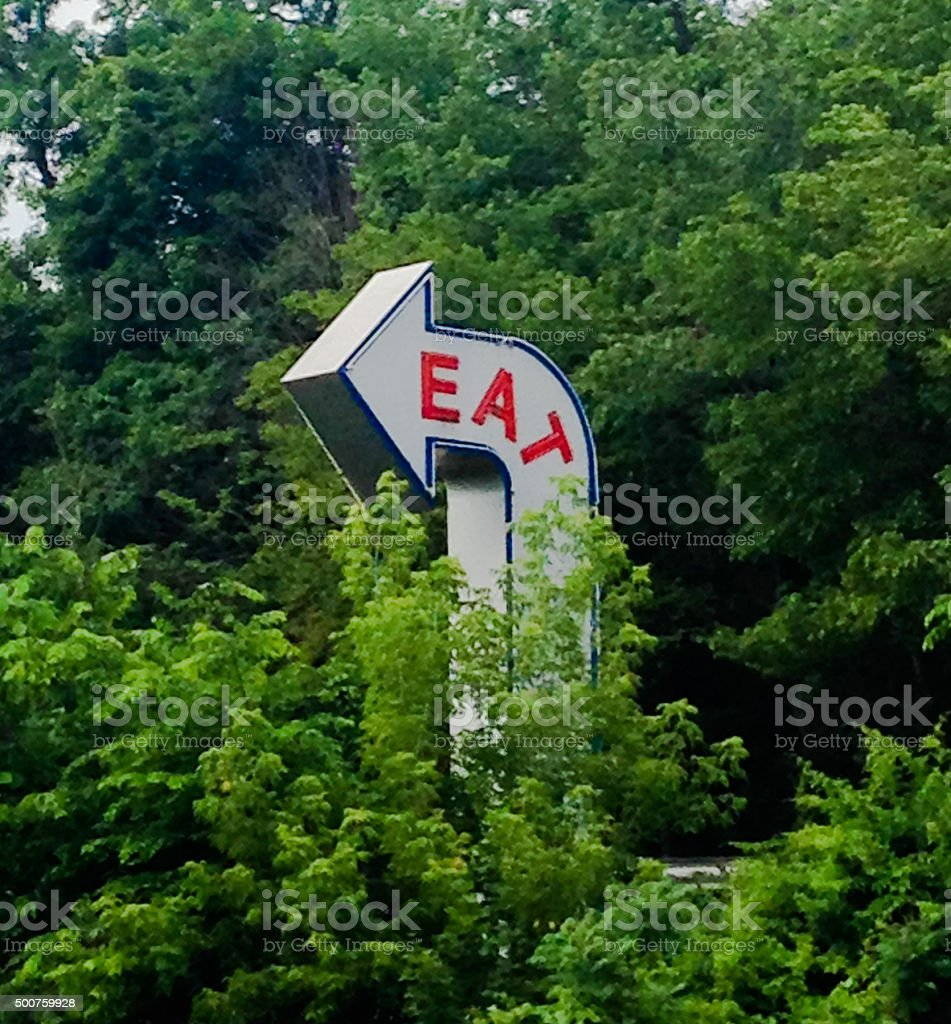 Fifty's Diner Eat Sign stock photo