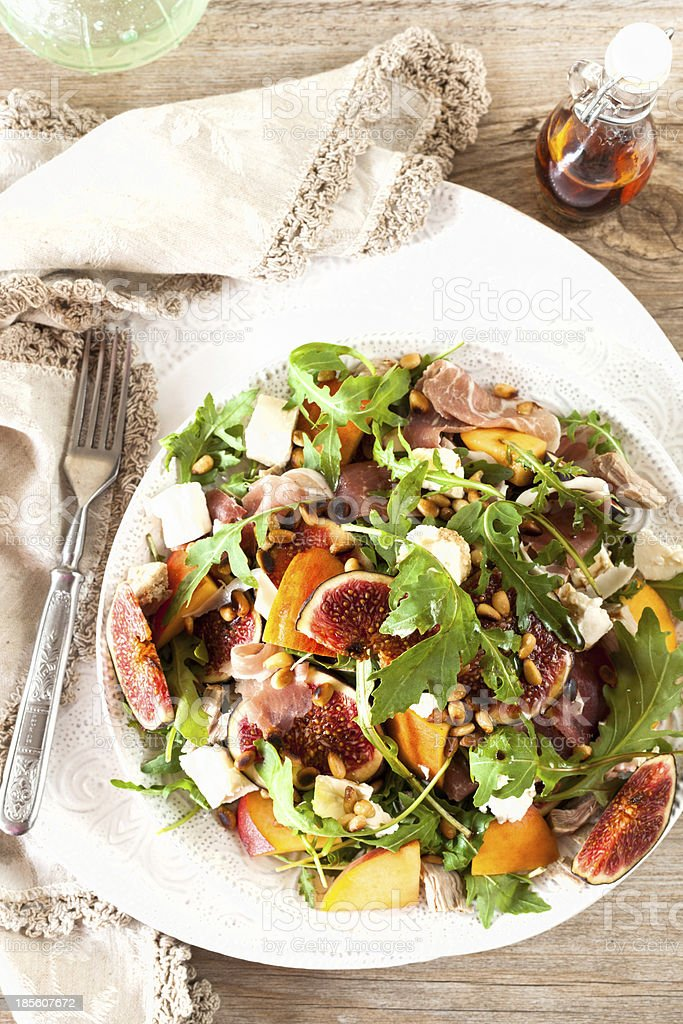 Fig and Prosciutto Salad royalty-free stock photo