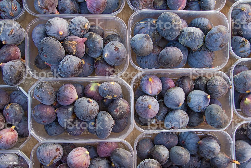 Fig boxes stock photo