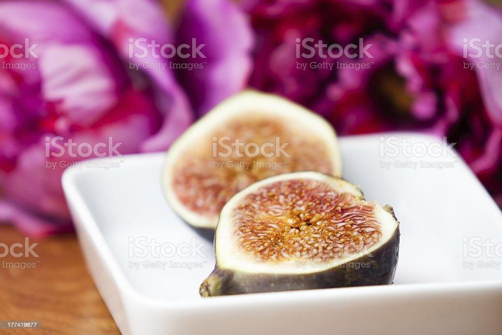 Fig halves stock photo