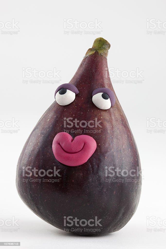 Fig in love portrait stock photo