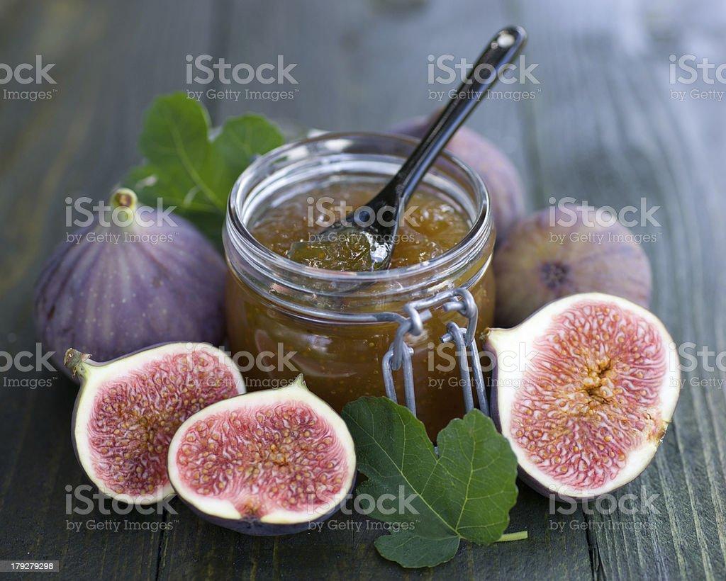 Fig jam stock photo
