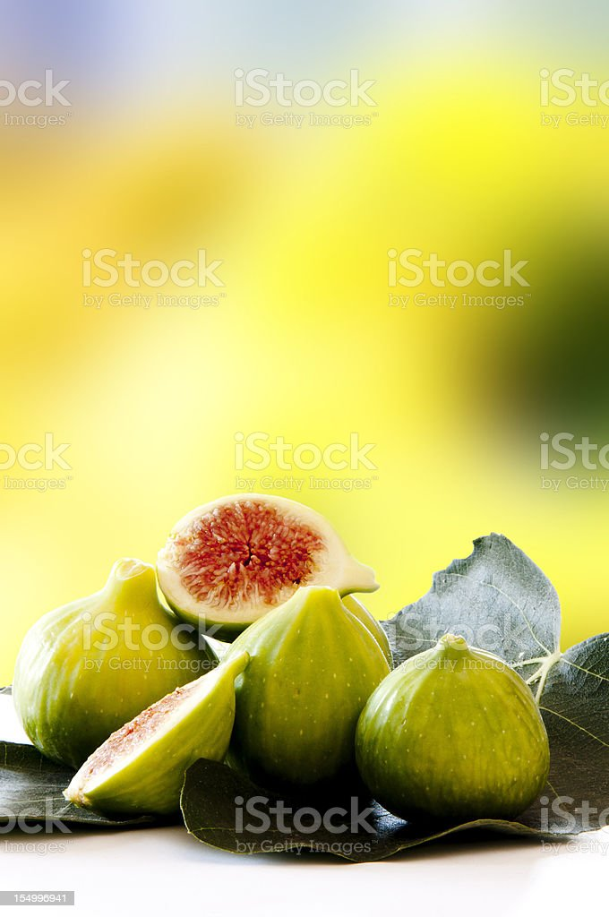fig with leaf stock photo