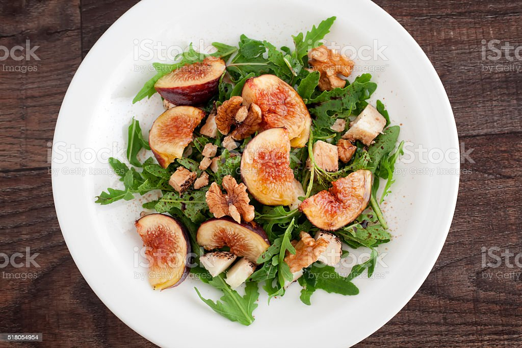 Fig with rucola royalty-free stock photo