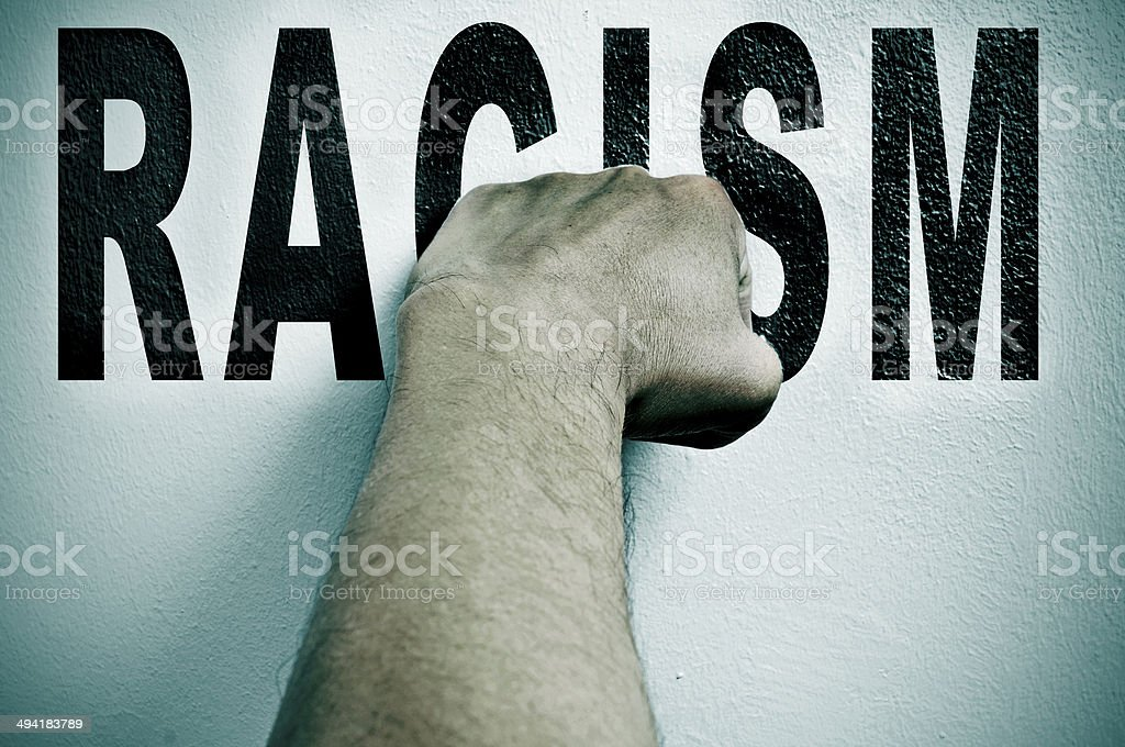 fight against racism stock photo